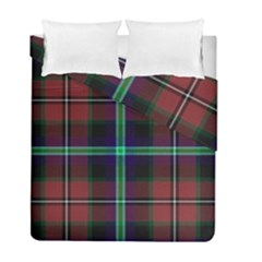 Purple And Red Tartan Plaid Duvet Cover Double Side (full/ Double Size) by allthingseveryone