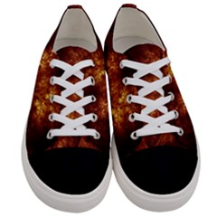 Artsy Brown Trees Women s Low Top Canvas Sneakers