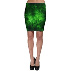 Artsy Bright Green Trees Bodycon Skirt by allthingseveryone