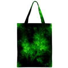 Artsy Bright Green Trees Zipper Classic Tote Bag by allthingseveryone