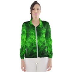 Artsy Bright Green Trees Wind Breaker (women)