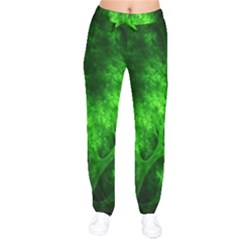 Artsy Bright Green Trees Drawstring Pants