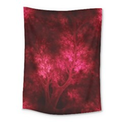 Artsy Red Trees Medium Tapestry