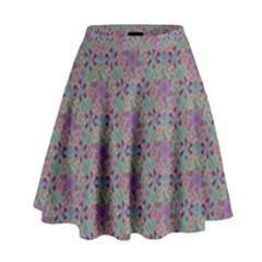 Flower Kaleidoscope Hand Drawing 2 High Waist Skirt by Cveti
