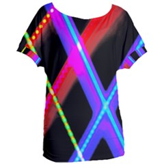 Xmas Light Paintings Women s Oversized Tee by Celenk