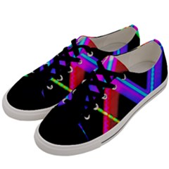 Xmas Light Paintings Men s Low Top Canvas Sneakers by Celenk
