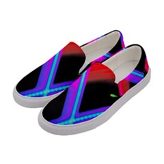 Xmas Light Paintings Women s Canvas Slip Ons by Celenk