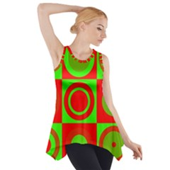 Redg Reen Christmas Background Side Drop Tank Tunic