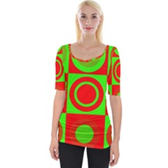 Redg Reen Christmas Background Wide Neckline Tee by Celenk