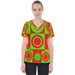 Redg Reen Christmas Background Scrub Top