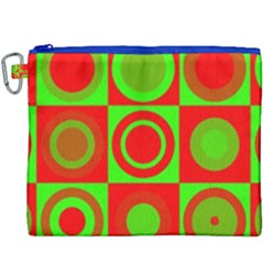Redg Reen Christmas Background Canvas Cosmetic Bag (xxxl) by Celenk