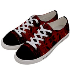 Red Abstract Women s Low Top Canvas Sneakers by Celenk
