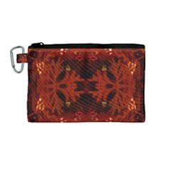 Red Abstract Canvas Cosmetic Bag (medium) by Celenk