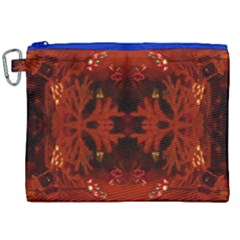 Red Abstract Canvas Cosmetic Bag (xxl) by Celenk