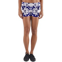 The Effect Of Light  Very Vivid Colours  Fragment Frame Pattern Yoga Shorts