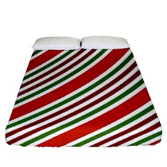 Christmas Color Stripes Fitted Sheet (california King Size)