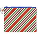 Christmas Color Stripes Canvas Cosmetic Bag (XXL) View1