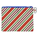 Christmas Color Stripes Canvas Cosmetic Bag (XXL) View2