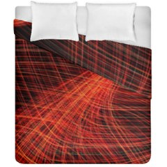 A Christmas Light Painting Duvet Cover Double Side (california King Size) by Celenk