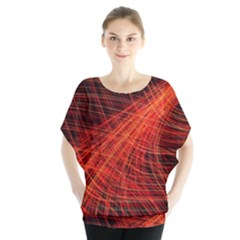 A Christmas Light Painting Blouse by Celenk