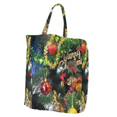 Decoration Christmas Celebration Gold Giant Grocery Zipper Tote by Celenk
