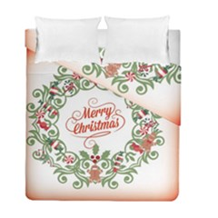 Merry Christmas Wreath Duvet Cover Double Side (full/ Double Size) by Celenk