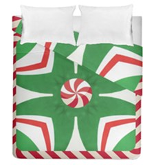 Candy Cane Kaleidoscope Duvet Cover Double Side (queen Size) by Celenk