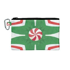 Candy Cane Kaleidoscope Canvas Cosmetic Bag (medium)