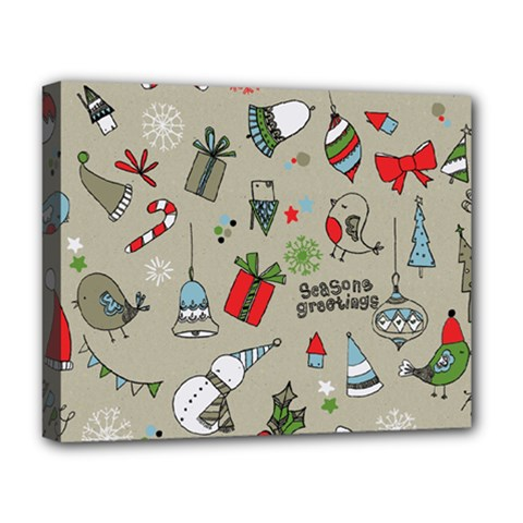 Beautiful Design Christmas Seamless Pattern Deluxe Canvas 20  X 16   by Celenk