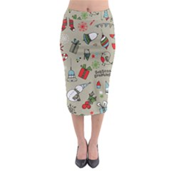 Beautiful Design Christmas Seamless Pattern Midi Pencil Skirt by Celenk