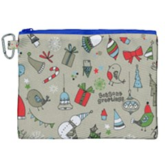 Beautiful Design Christmas Seamless Pattern Canvas Cosmetic Bag (xxl) by Celenk
