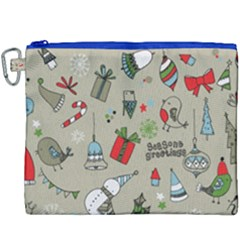 Beautiful Design Christmas Seamless Pattern Canvas Cosmetic Bag (xxxl) by Celenk