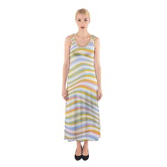 Art Abstract Colorful Colors Sleeveless Maxi Dress by Celenk