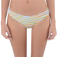 Art Abstract Colorful Colors Reversible Hipster Bikini Bottoms
