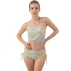 Art Abstract Colorful Colors Mini Tank Bikini Set