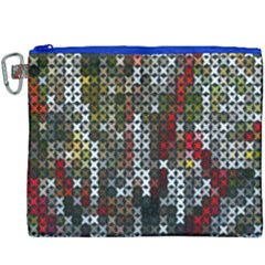 Christmas Cross Stitch Background Canvas Cosmetic Bag (xxxl) by Celenk