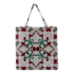 Christmas Paper Grocery Tote Bag by Celenk