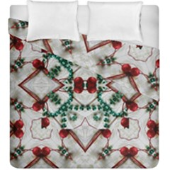 Christmas Paper Duvet Cover Double Side (king Size) by Celenk
