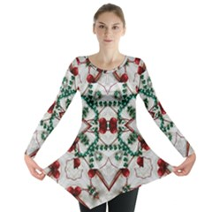 Christmas Paper Long Sleeve Tunic