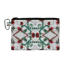 Christmas Paper Canvas Cosmetic Bag (medium) by Celenk