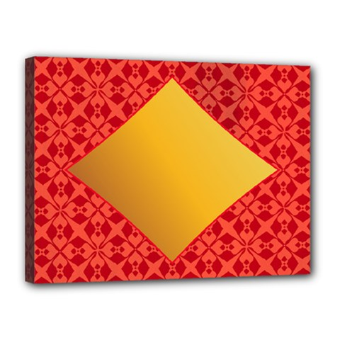 Christmas Card Pattern Background Canvas 16  X 12  by Celenk