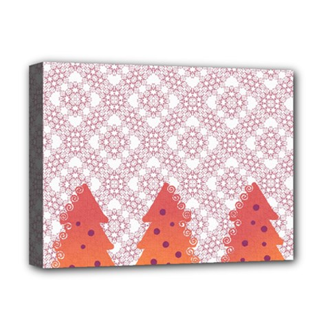 Christmas Card Elegant Deluxe Canvas 16  X 12   by Celenk