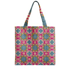 Christmas Wallpaper Zipper Grocery Tote Bag by Celenk