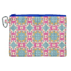 Christmas Wallpaper Canvas Cosmetic Bag (xl) by Celenk
