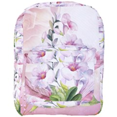 Wonderful Flowers, Soft Colors, Watercolor Full Print Backpack by FantasyWorld7