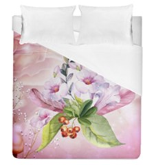 Wonderful Flowers, Soft Colors, Watercolor Duvet Cover (queen Size) by FantasyWorld7