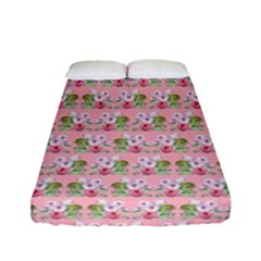 Floral Pattern Fitted Sheet (full/ Double Size) by SuperPatterns