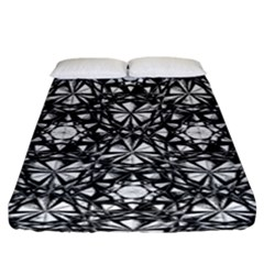 Star Crystal Black White 1 And 2 Fitted Sheet (king Size)
