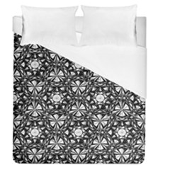 Star Crystal Black White 1 And 2 Duvet Cover (queen Size) by Cveti