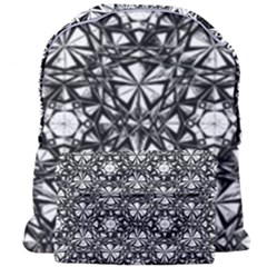 Star Crystal Black White 1 And 2 Giant Full Print Backpack by Cveti